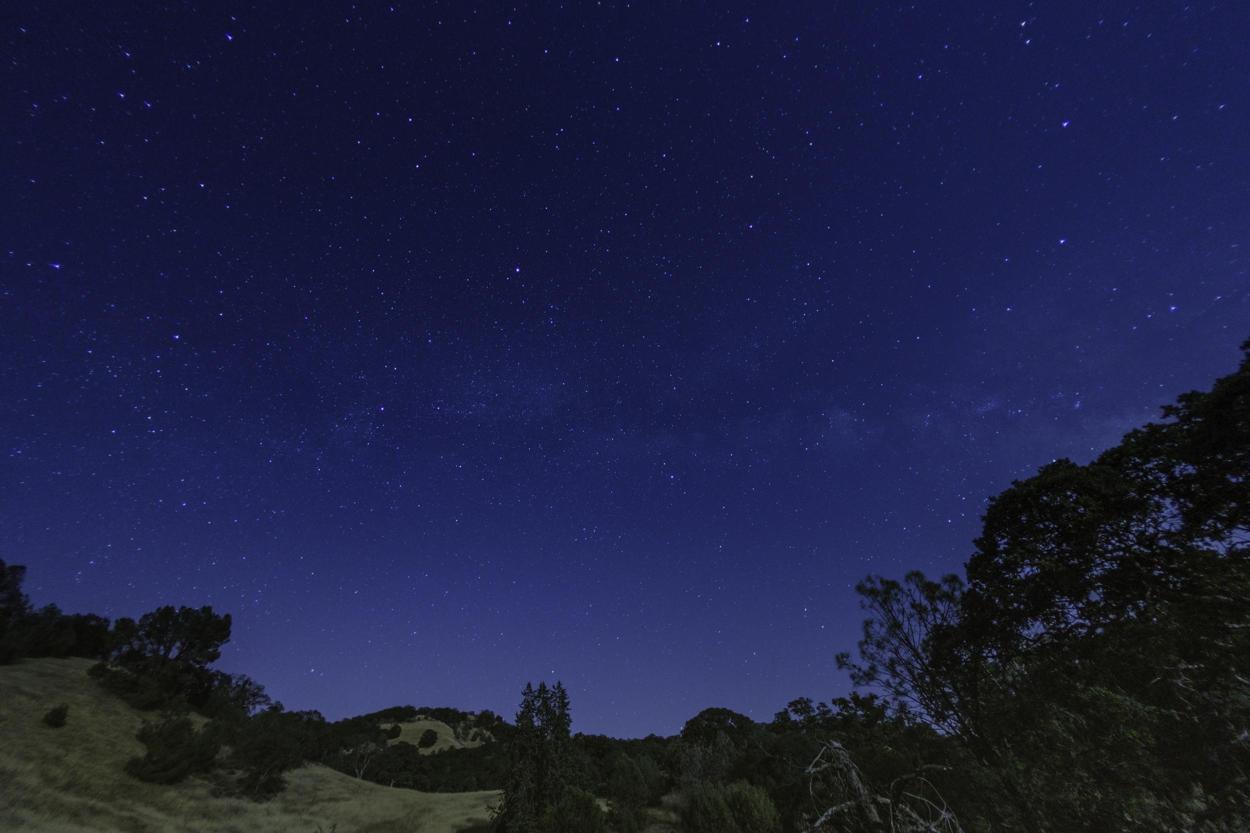 The Stars Above Mount Hamilton