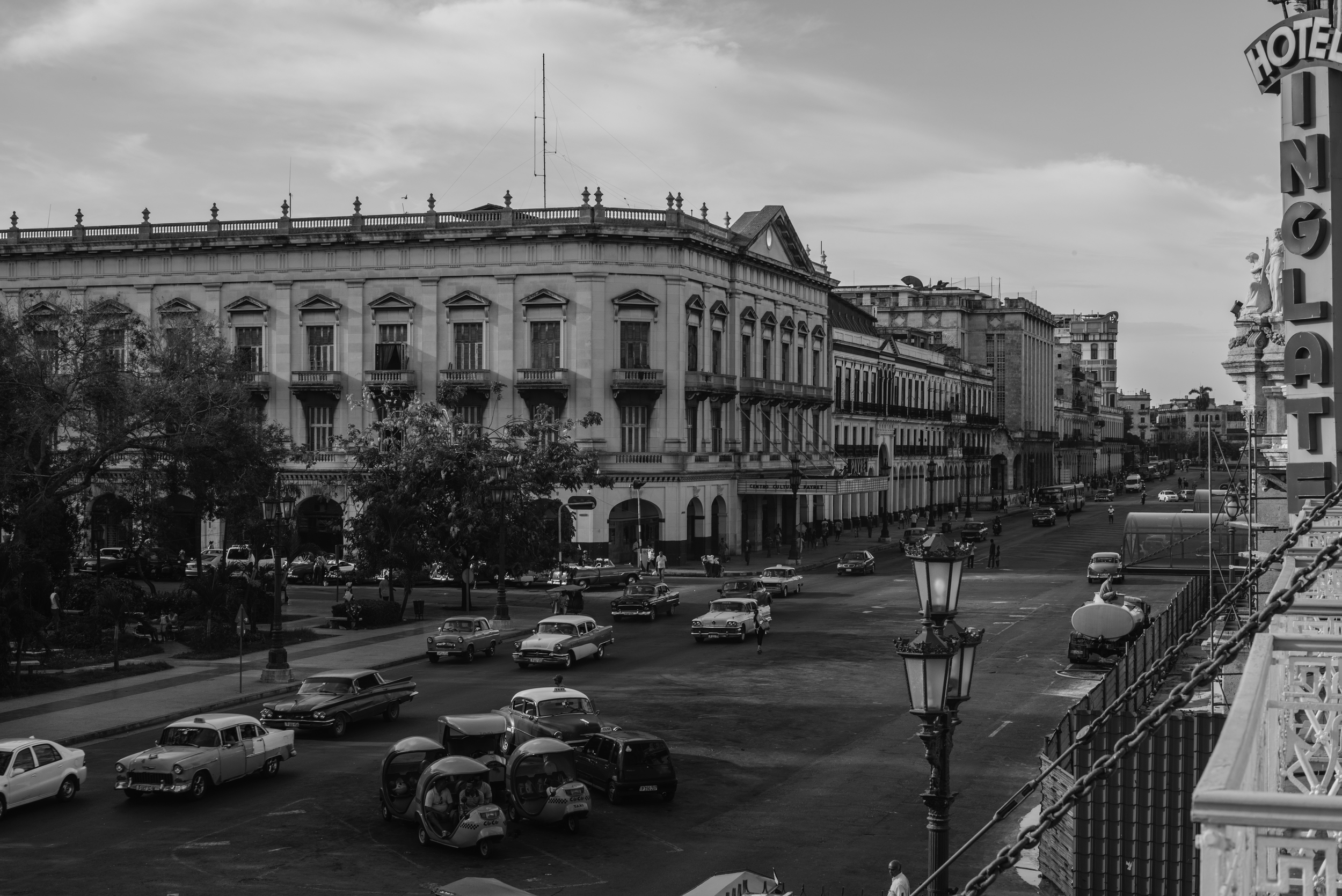 View from the Hotel Inglaterra, the oldest hotel in Cuba.