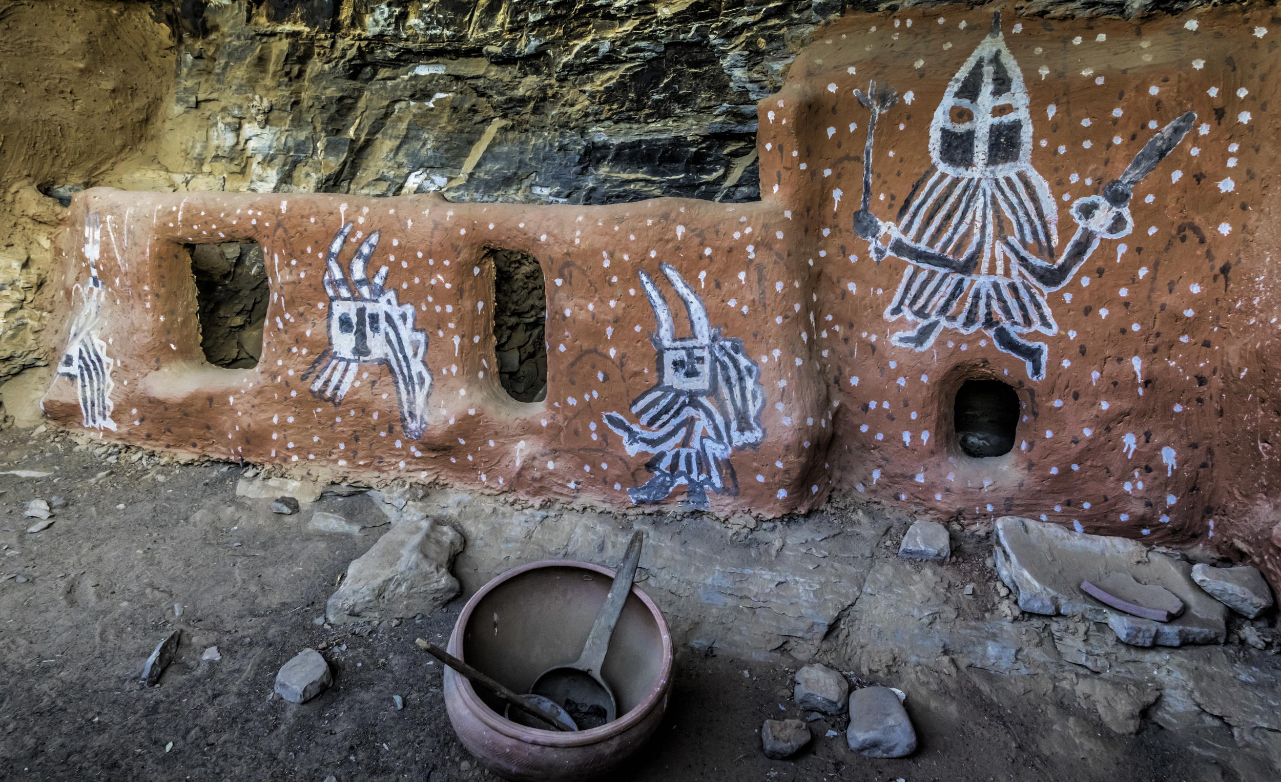 Dogon Paintings In Indelou Village