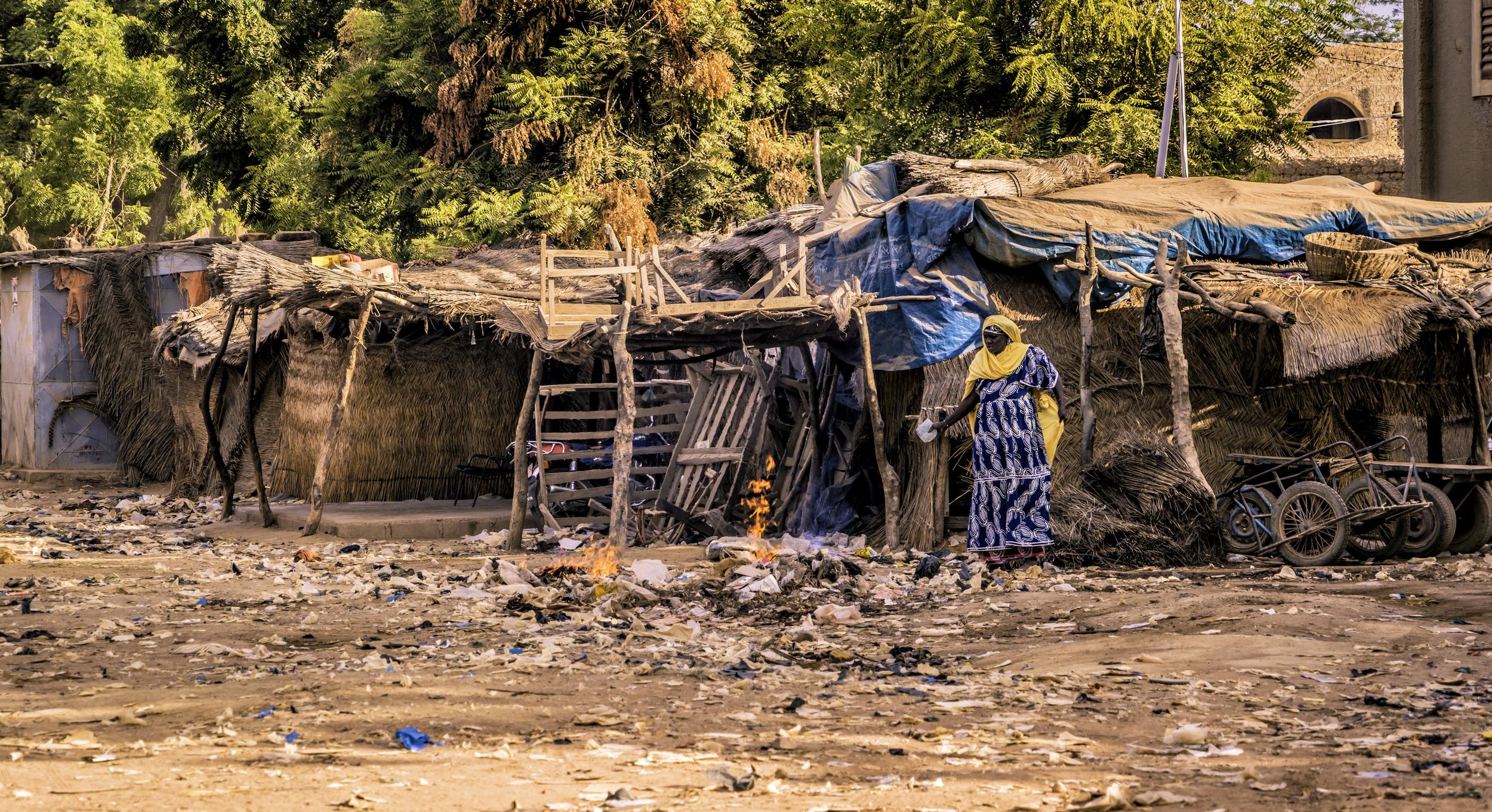 Trash Burning In Mali