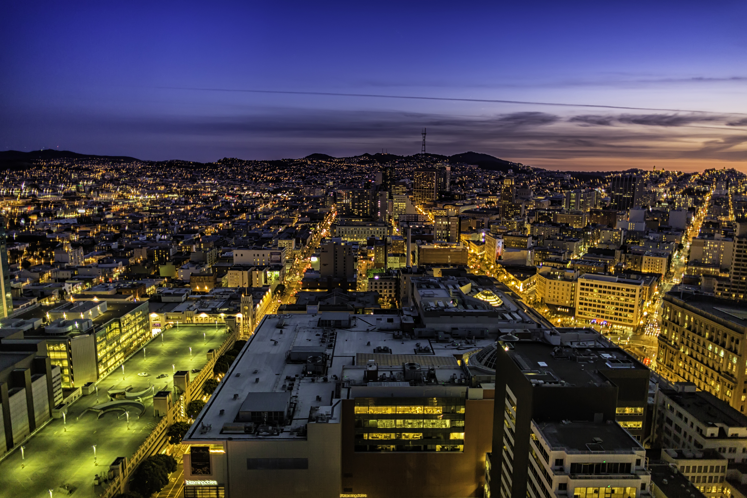 San Francisco Sparkles From The View
