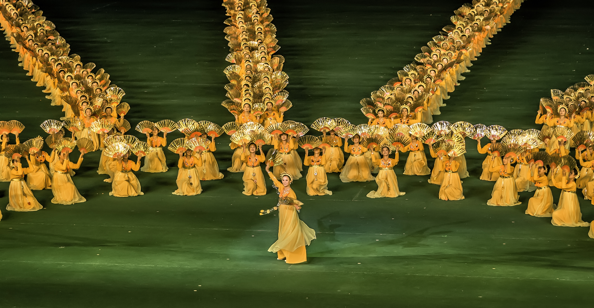 The Golden Fan Dancers of Arirang