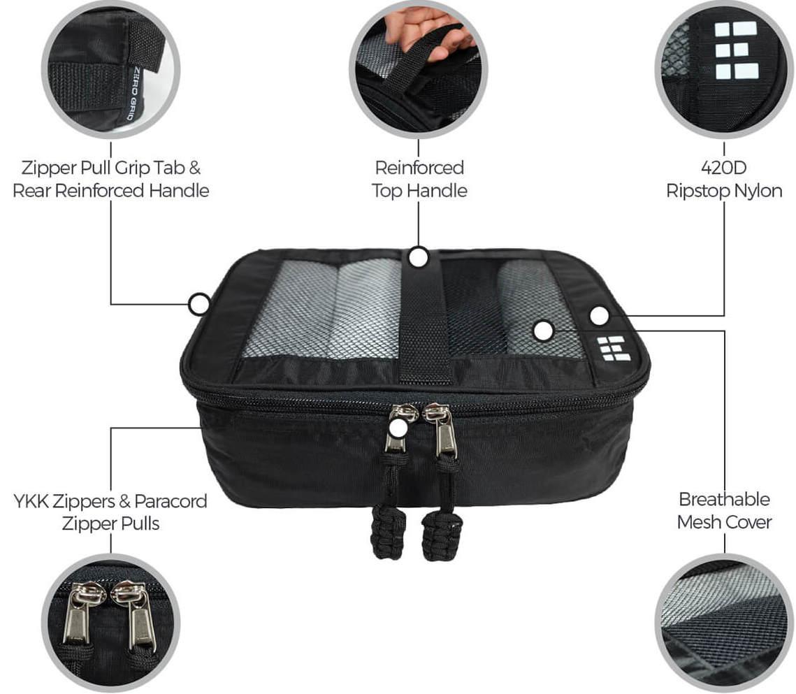 ZeroGrid Packing Cube  Benefits.  Source: zerogrid.com