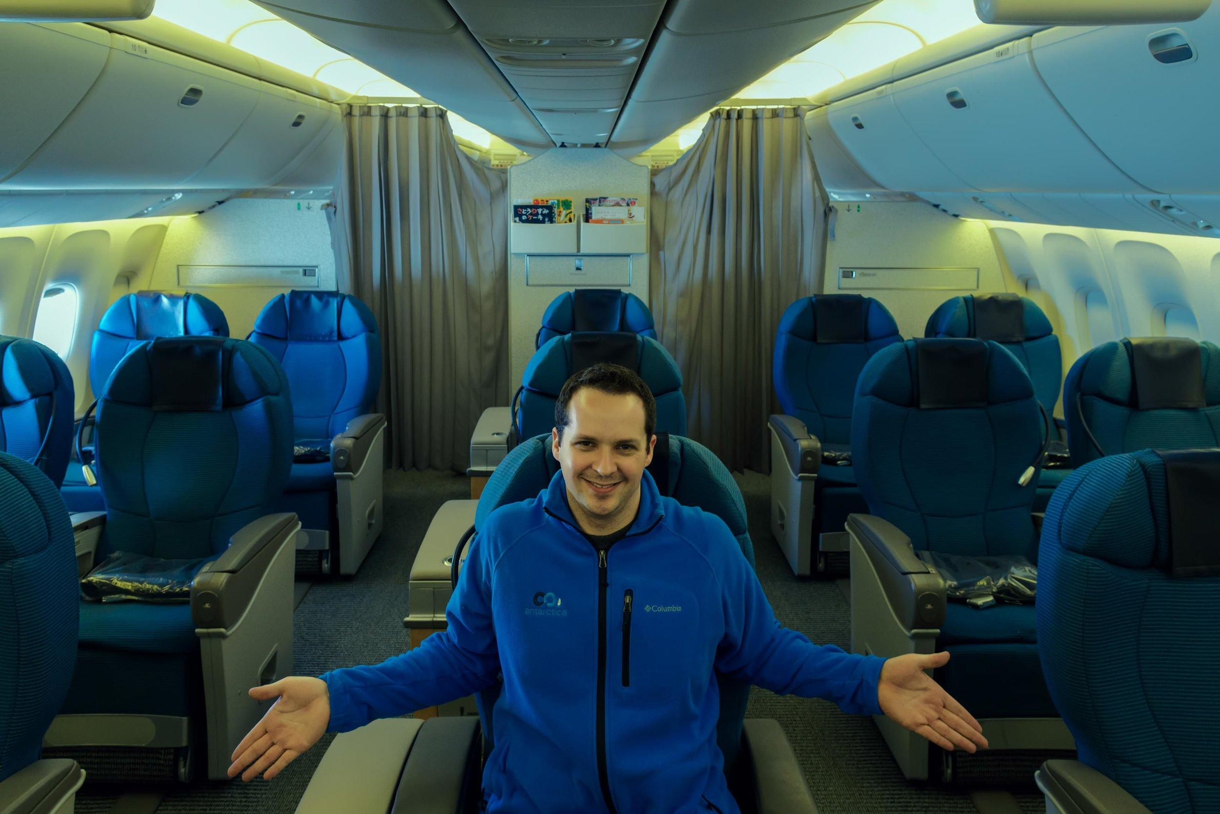 Aboard ANA's 767-300 from Osaka to Shanghai