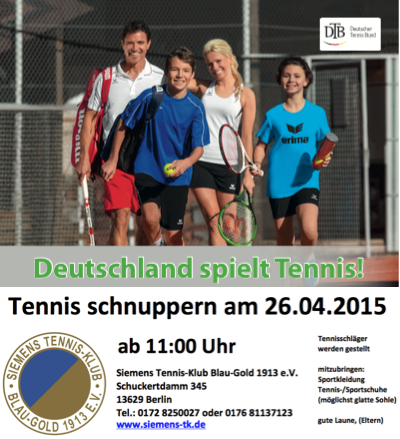 Bildquelle:   ©  DTB und Siemens Tennis-Klub Blau-Gold 1913 e.V.