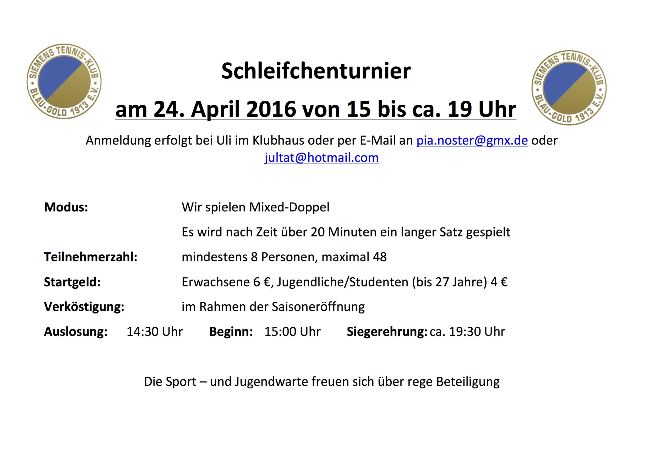 Schleichenturnier zur Saisoneröffnung 24.04.2016
