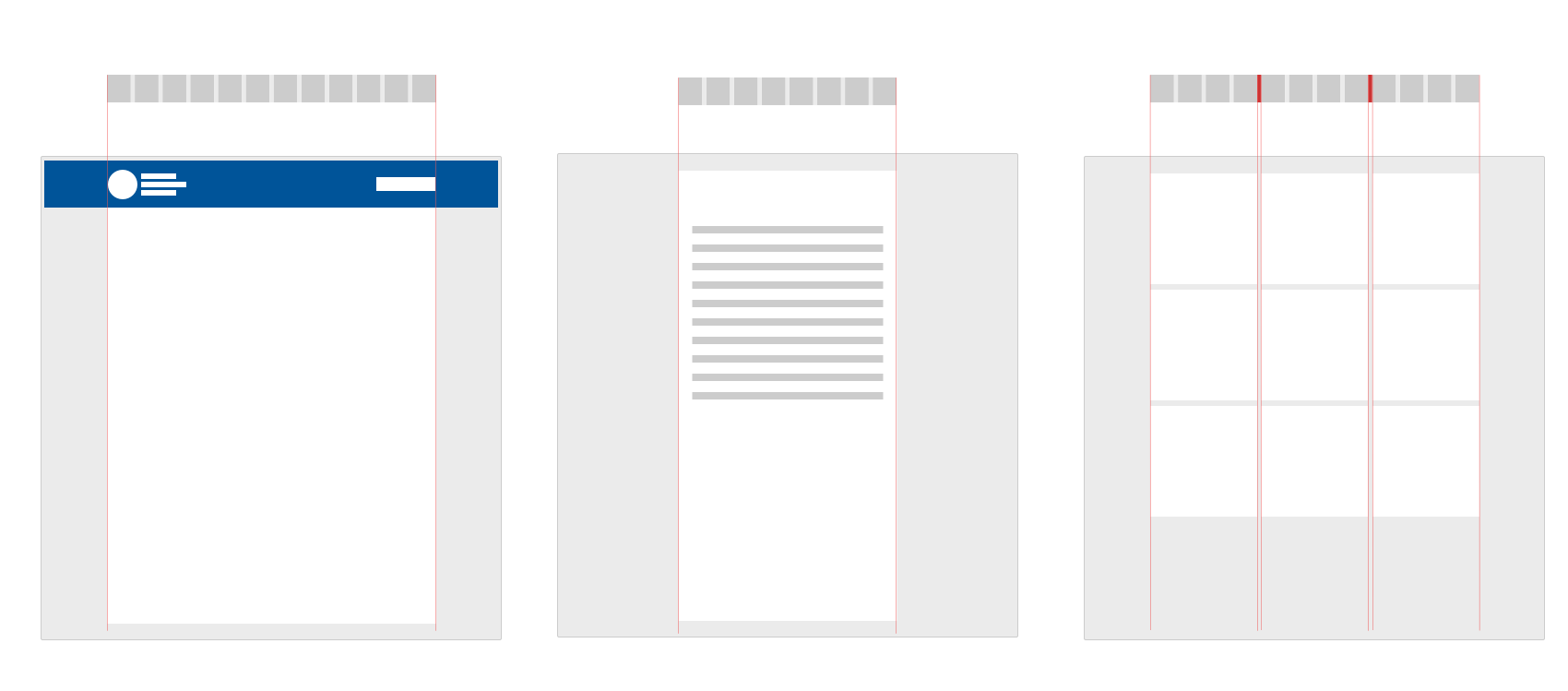 Different layouts are used to present different types of information