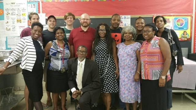 Members of Liberti:Fairmount, United Missionary Baptist and Robert Morris Elementary School  served children and families dinner at Back to School Night 2016