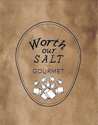 Context //  The Worth our Salt logo is meant to reflect a refined grocery experience that is also human.   Concept // This logo uses two typefaces that amplify the careful balance this store aims to achieve. The salt blocks show a focus on fine ingredients and the outer shape is meant to create an elegance.