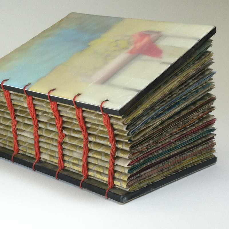 Conversations by Erin Keane : visual journal with encaustic covers and beeswax infused pages