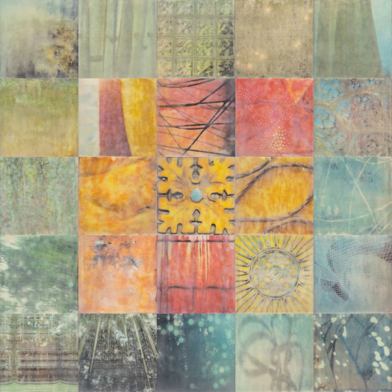 Rejuvenate by Erin Keane : photography with encaustic beeswax : 40 x 40 inches