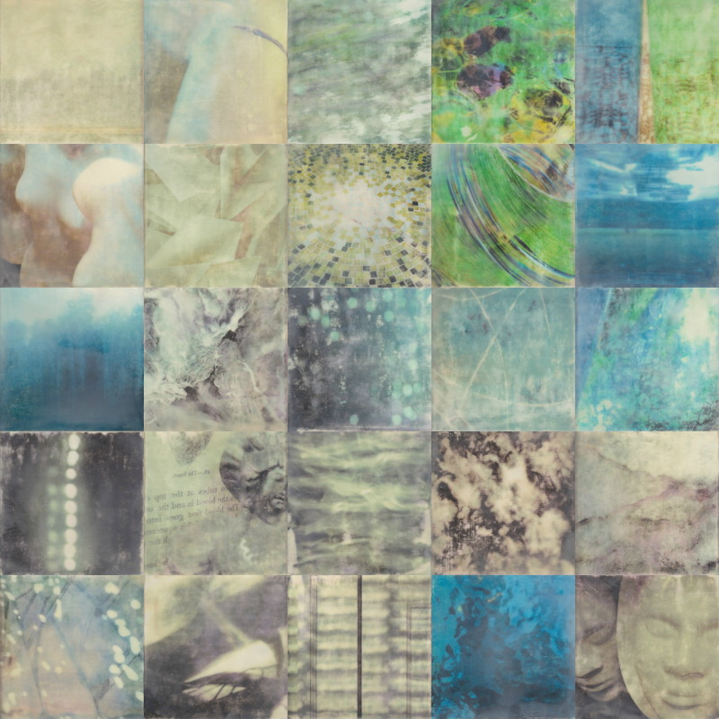 Cool Breeze by Erin Keane : photography with encaustic beeswax : 40 x 40 inches