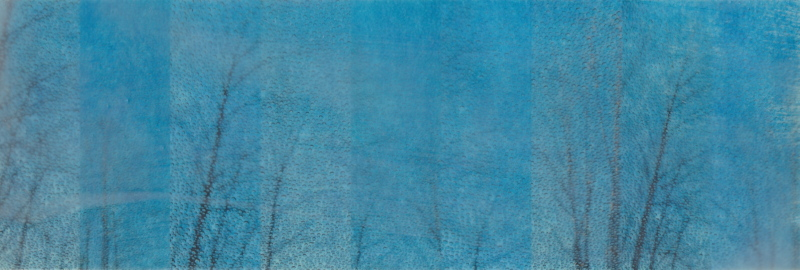 Rain, Rain by Erin Keane : photography with encaustic beeswax : 8 x 24 inches