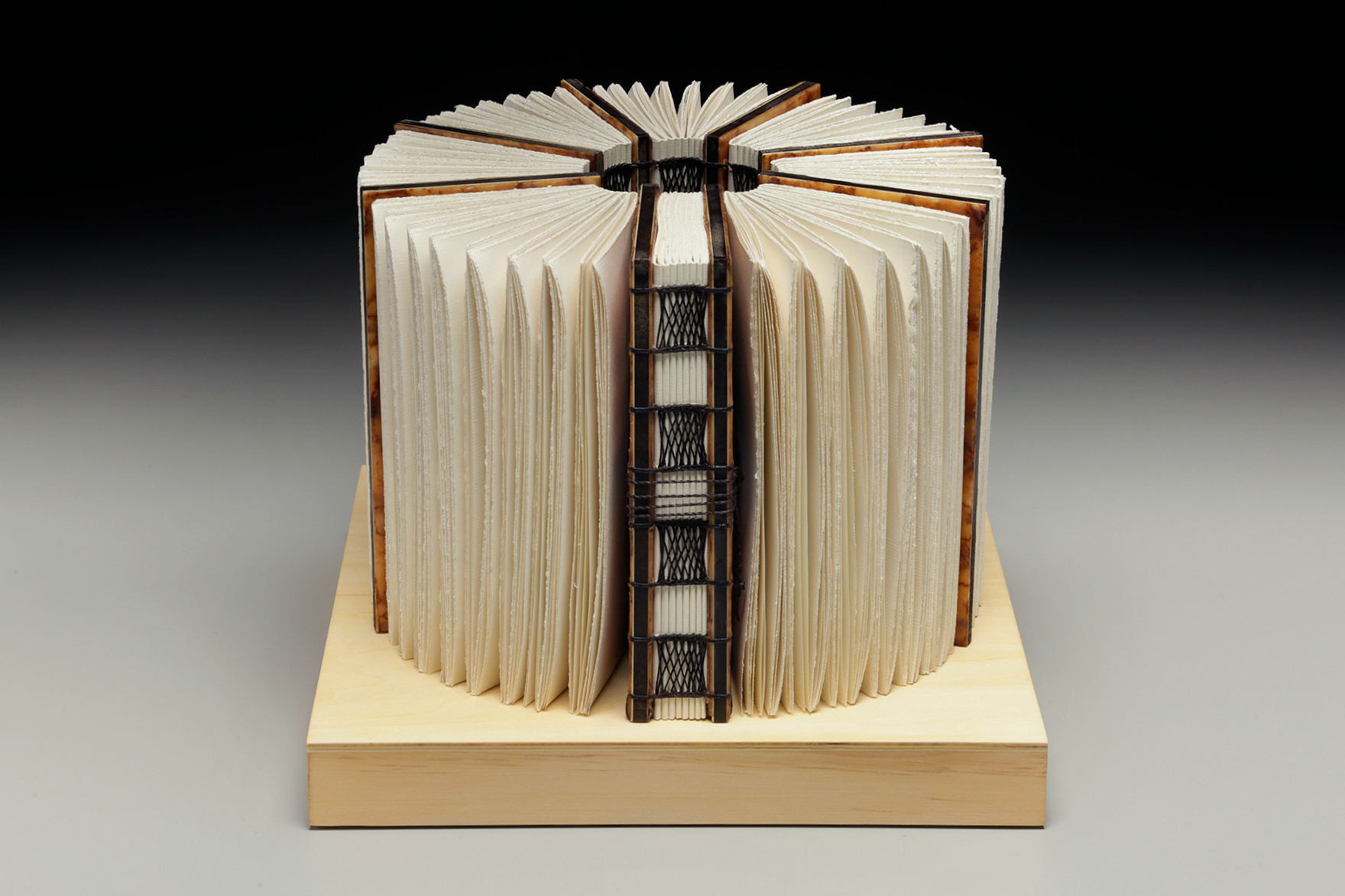 Embracing Within by Erin Keane : sculptural book : encaustic beeswax covers : 12 x 12 x 9.5 inches
