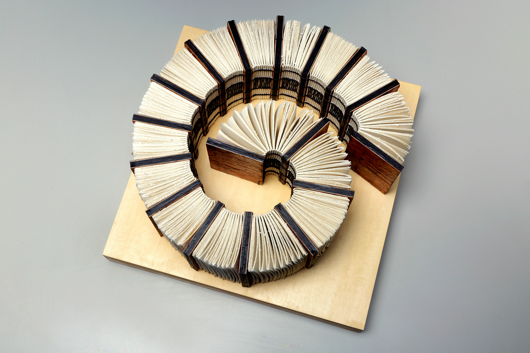 Between Time by Erin Keane : sculptural book : encaustic beeswax covers : 12 x 12 x 5 inches
