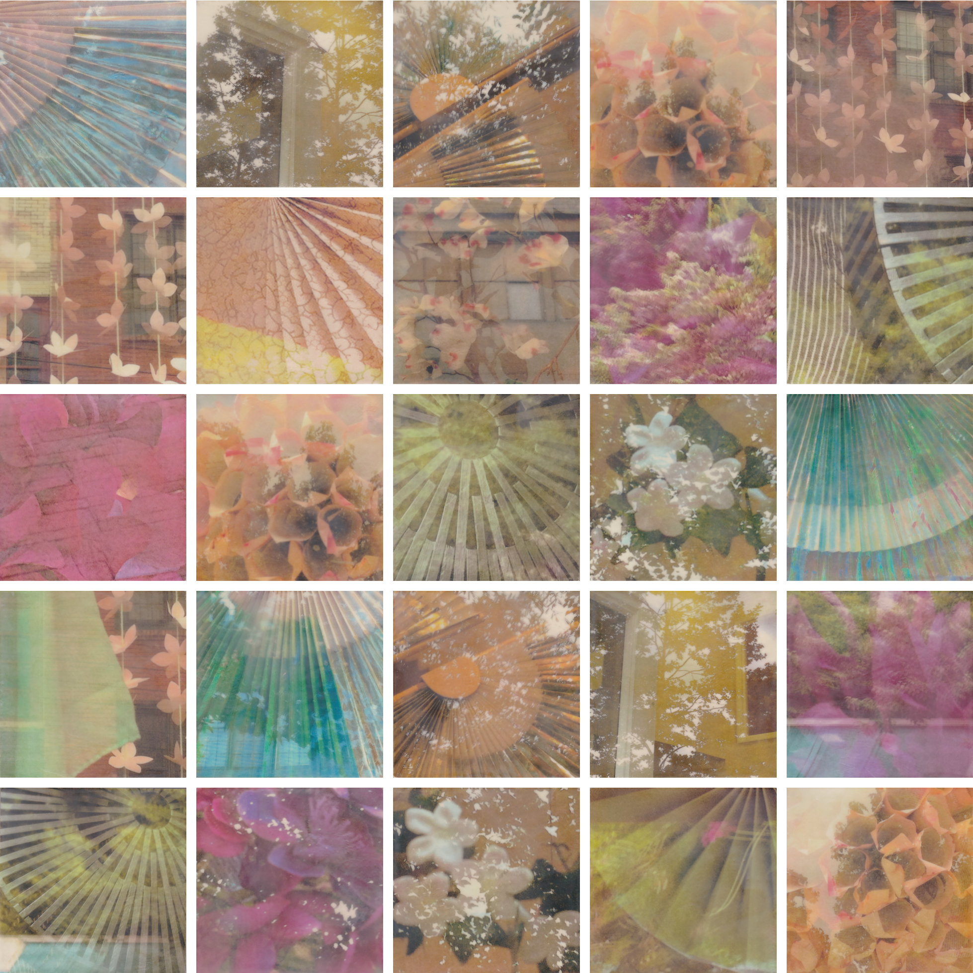 Blush by Erin Keane : photography with encaustic beeswax : 40 x 40 inches