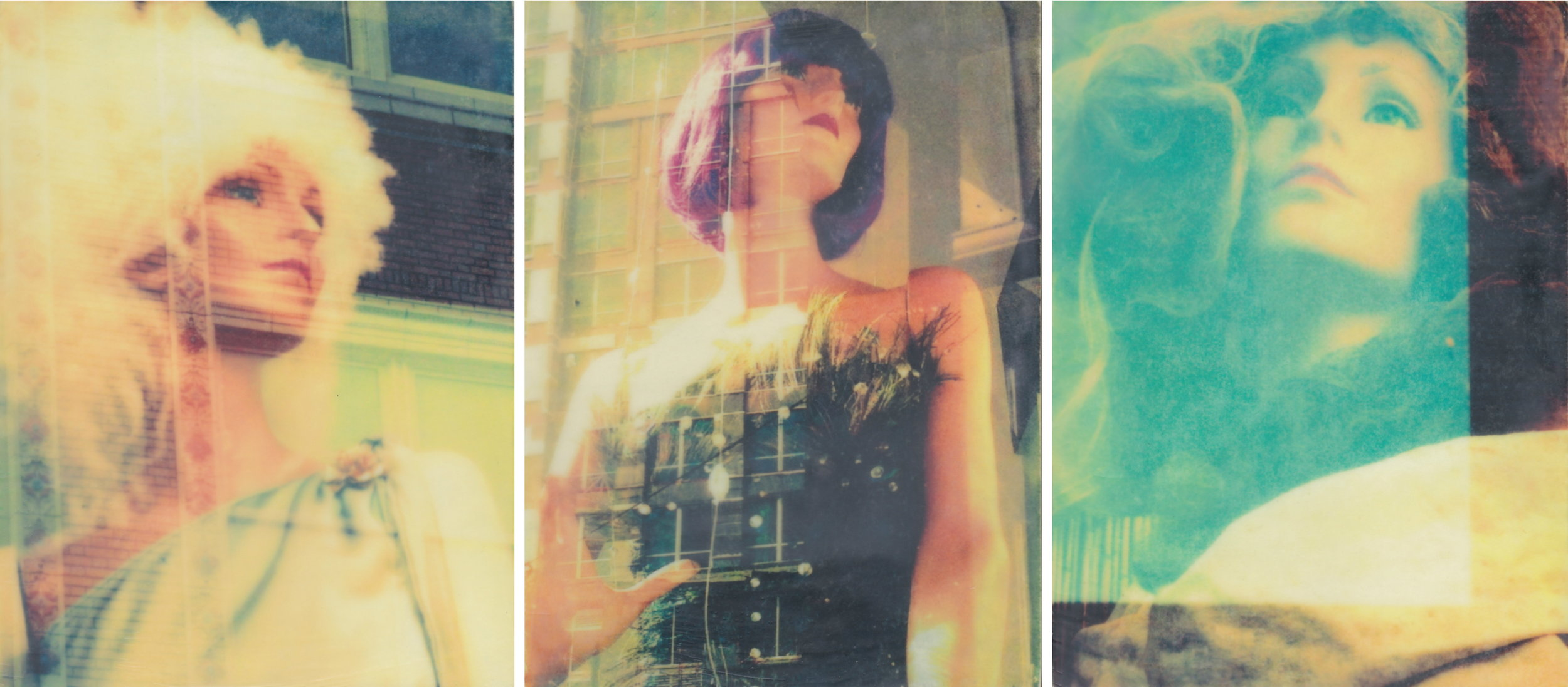 The Looking Glass by Erin Keane : photography with encaustic beeswax : 16 x 36 inches