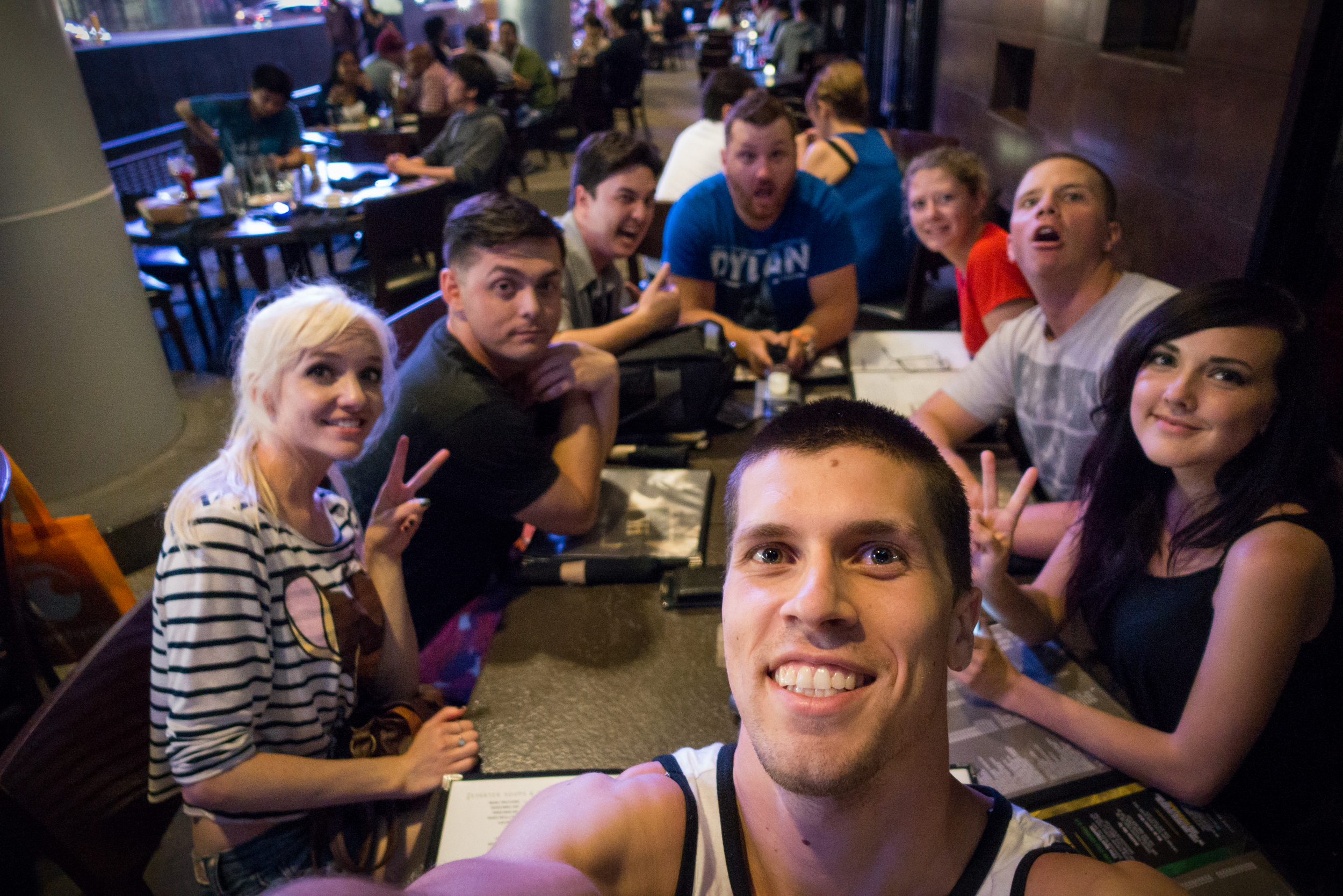 Dinner with these amazing people =]  Jordan, Lyz, Cody, Justin, Brandon, Darshelle and I