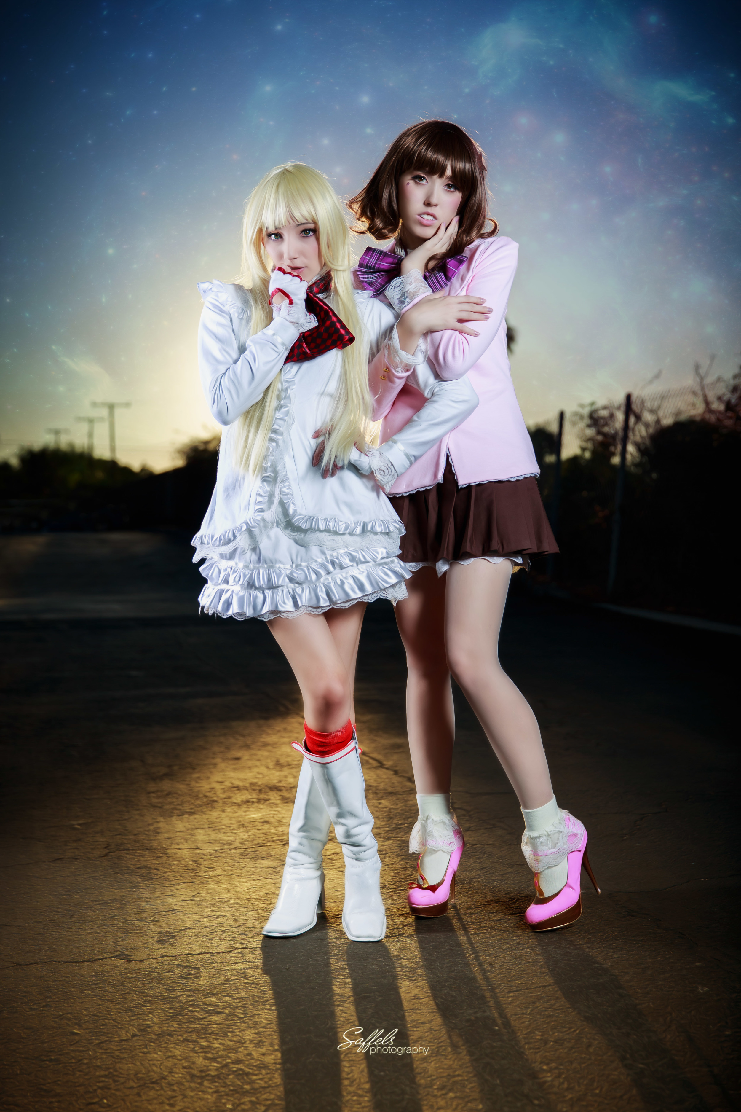 Moon Farron Cosplay and Miss Macross Cosplay as Lili from Tekken and Mika from Killer is Dead