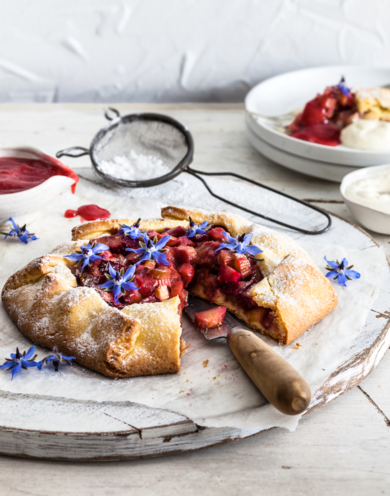 The Food Union - Rhubarb & Ginger Galette with Rhubarb Coulis