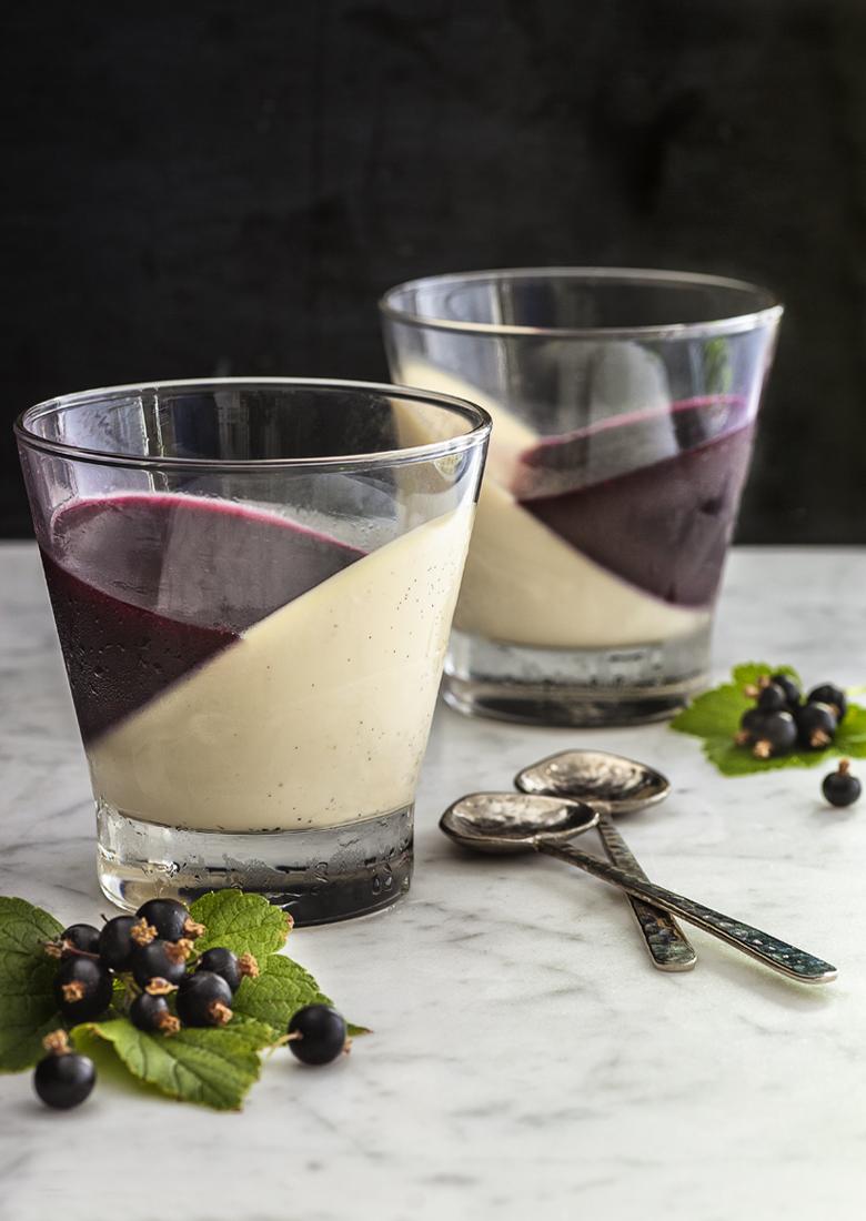 The Food Union - Vanilla Pannacotta with Blackcurrant Jelly