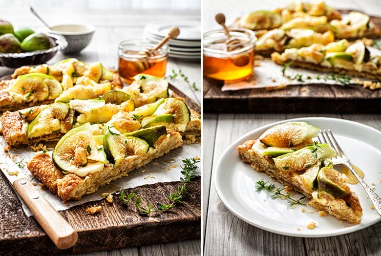 The Food Union - Fig & Mascarpone Tart with Honey & Thyme