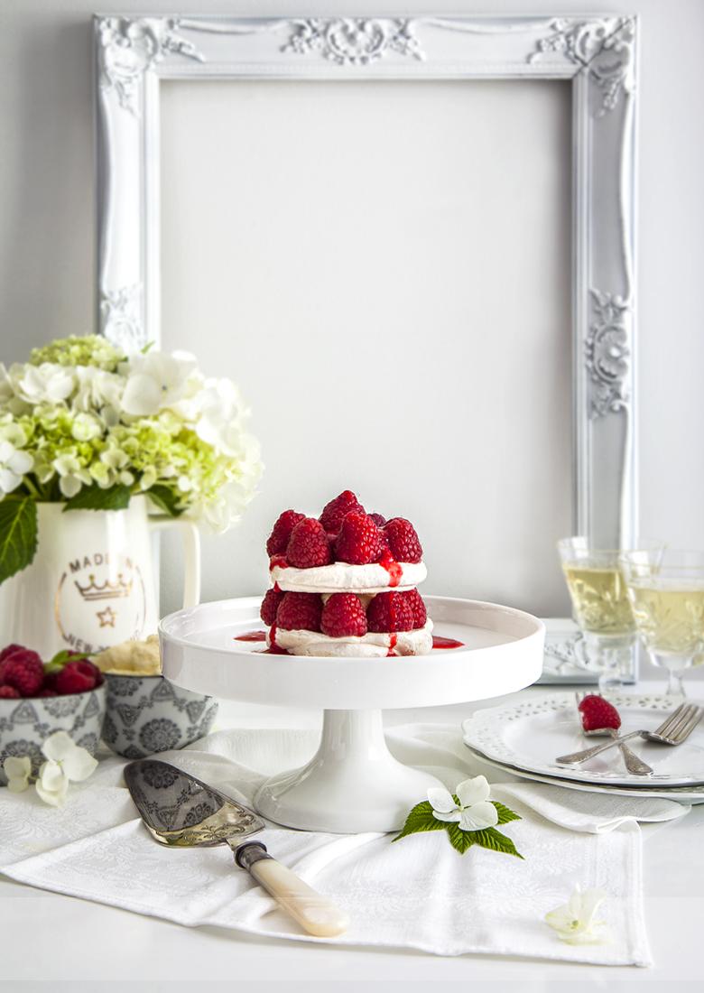 The Food Union - Walnut Meringue with Raspberries & Mascarpone C