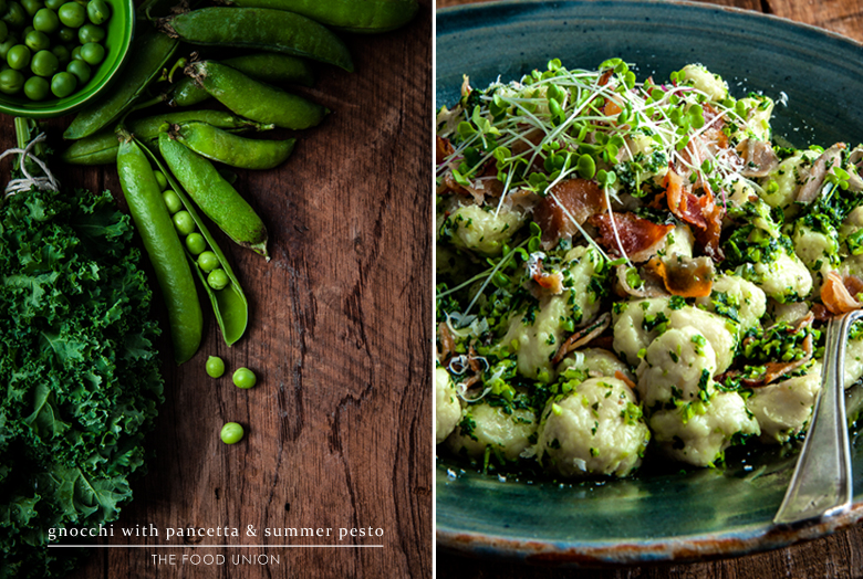 The Food Union - Gnocchi with Pancetta & Summer Pesto