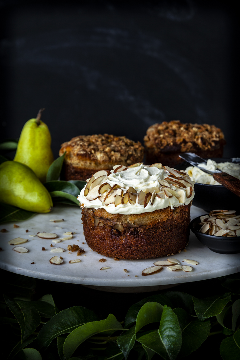 TFU - Pear & Nut Cake with Mascarpone Cream