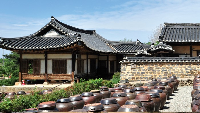 Hanok, traditional Korean houses  - The ancient house of Yun Jeung, a Confucian scholar of the late Joseon (1392-1910) period, situated in Nonsan, Chungcheongnam-do, also called Myeongjae Gotaek after his pen name