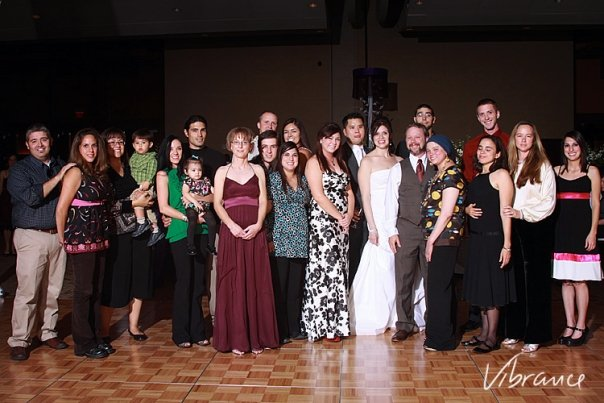 Even more Padillas at my sister's wedding, 2010. This is a lot (but not all) of my generation (my first cousins) and their spouses.
