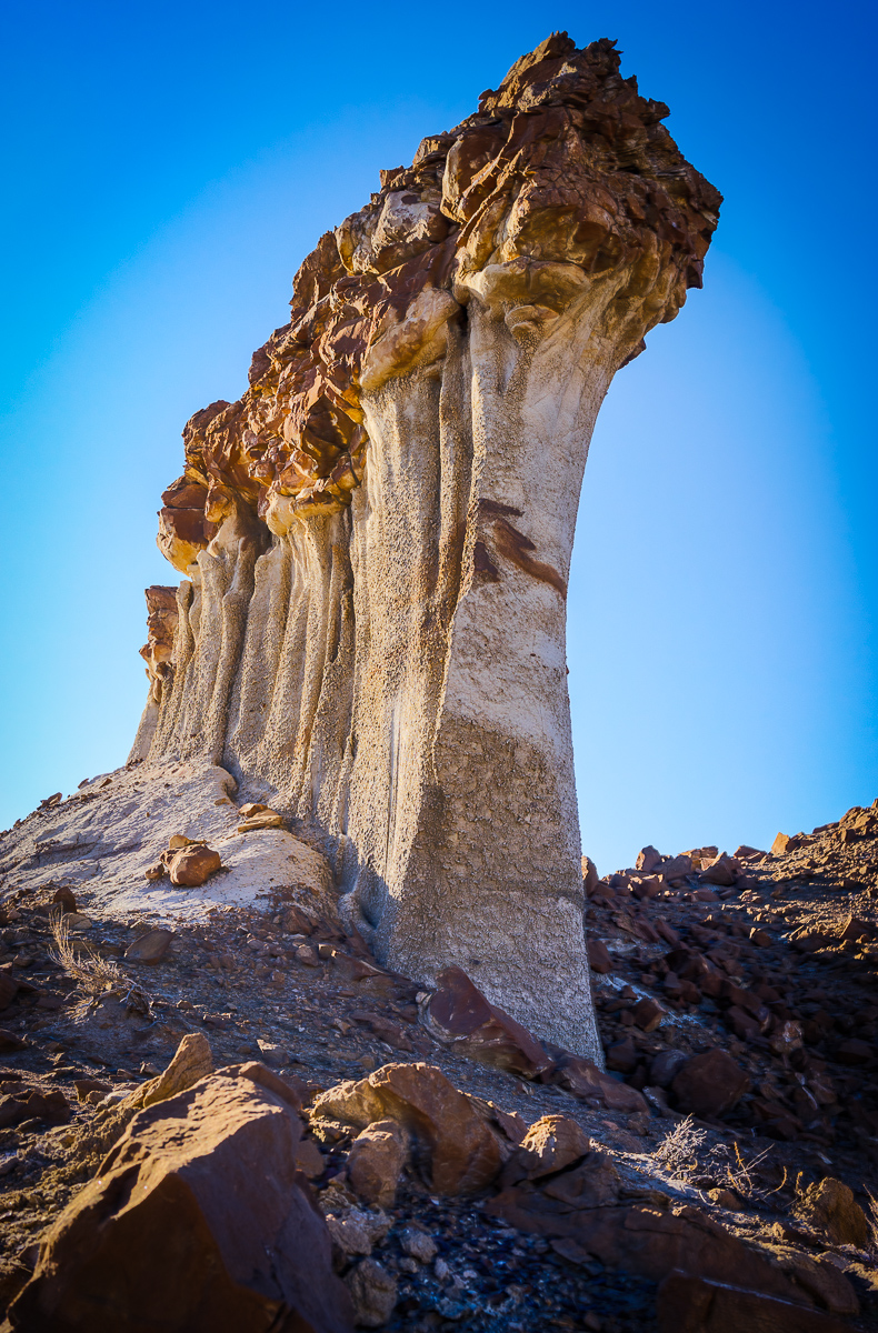 This formation was absolutely amazing. It took quite a climb through some treacherous gullies to get to. It was about twenty-five feet high and about forty feet in length.