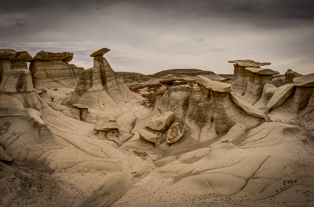 The tops of these formations were about ten feet above the surrounding landscape.