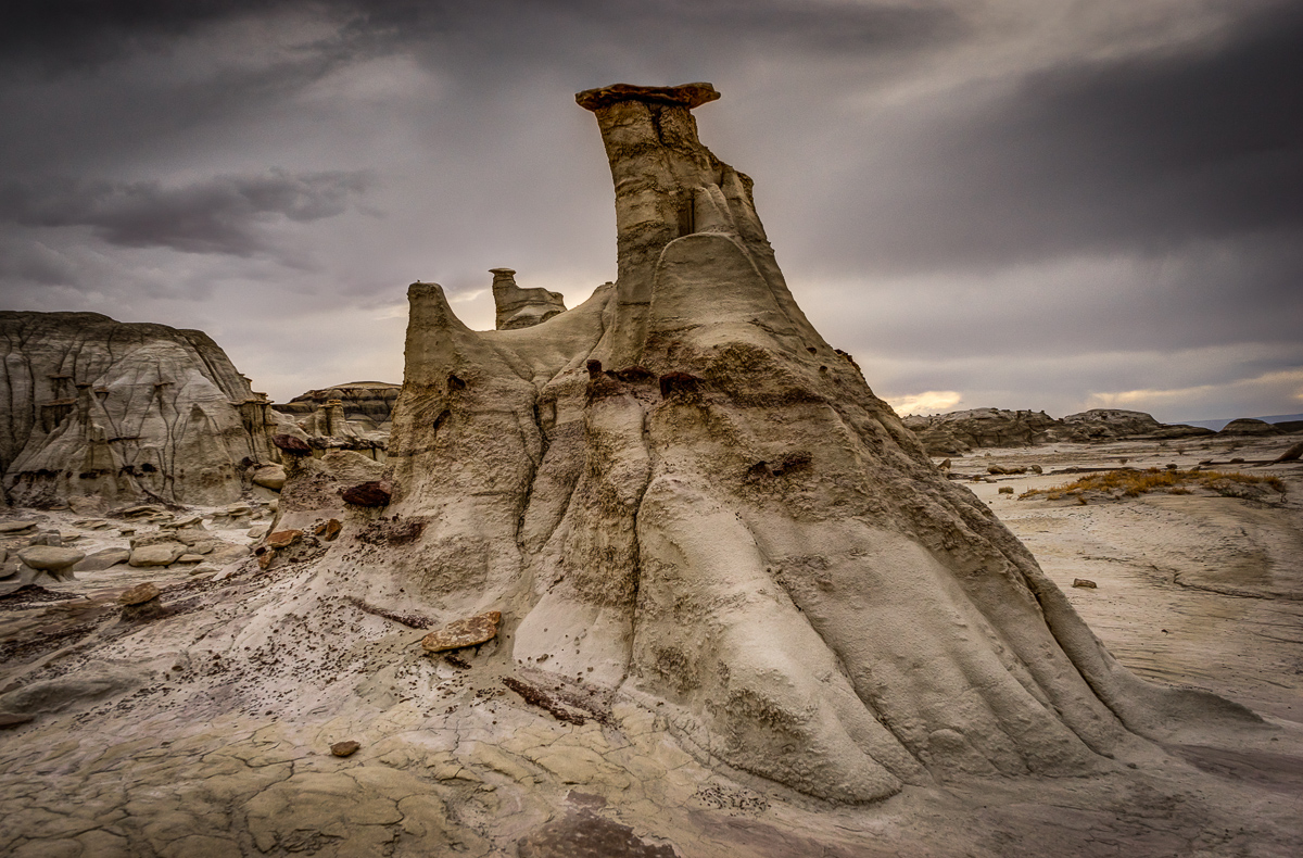 This hoodoo reminded me of a giant snowmobile or motorcycle. It stands about 15 feet tall at its highest point