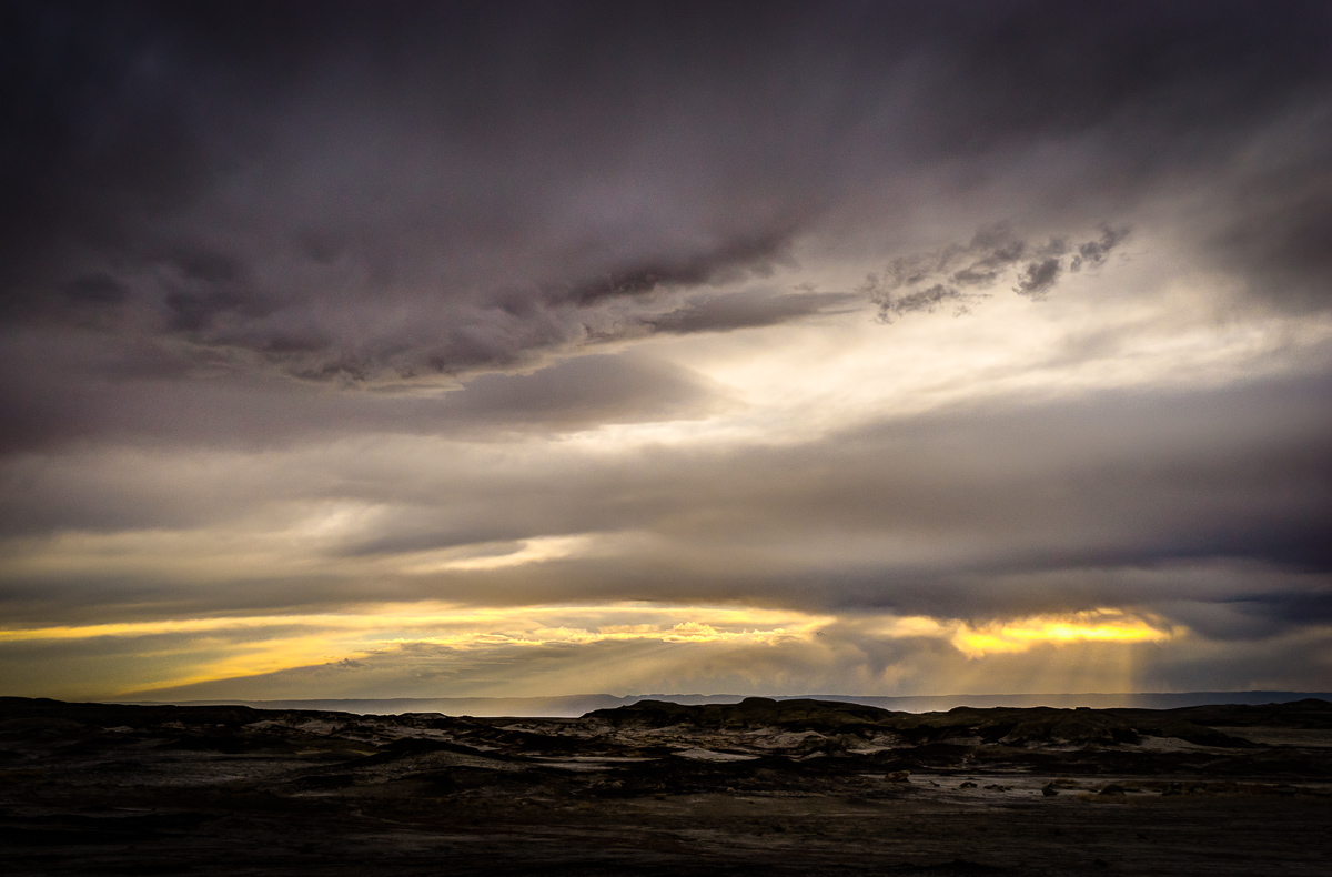 I didn't get the Bisti Sunset I had planned, but the sun fought through the clouds for some beautiful sights I hadn't imagined.