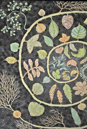 Leaves of Life (Quilt) -detail-