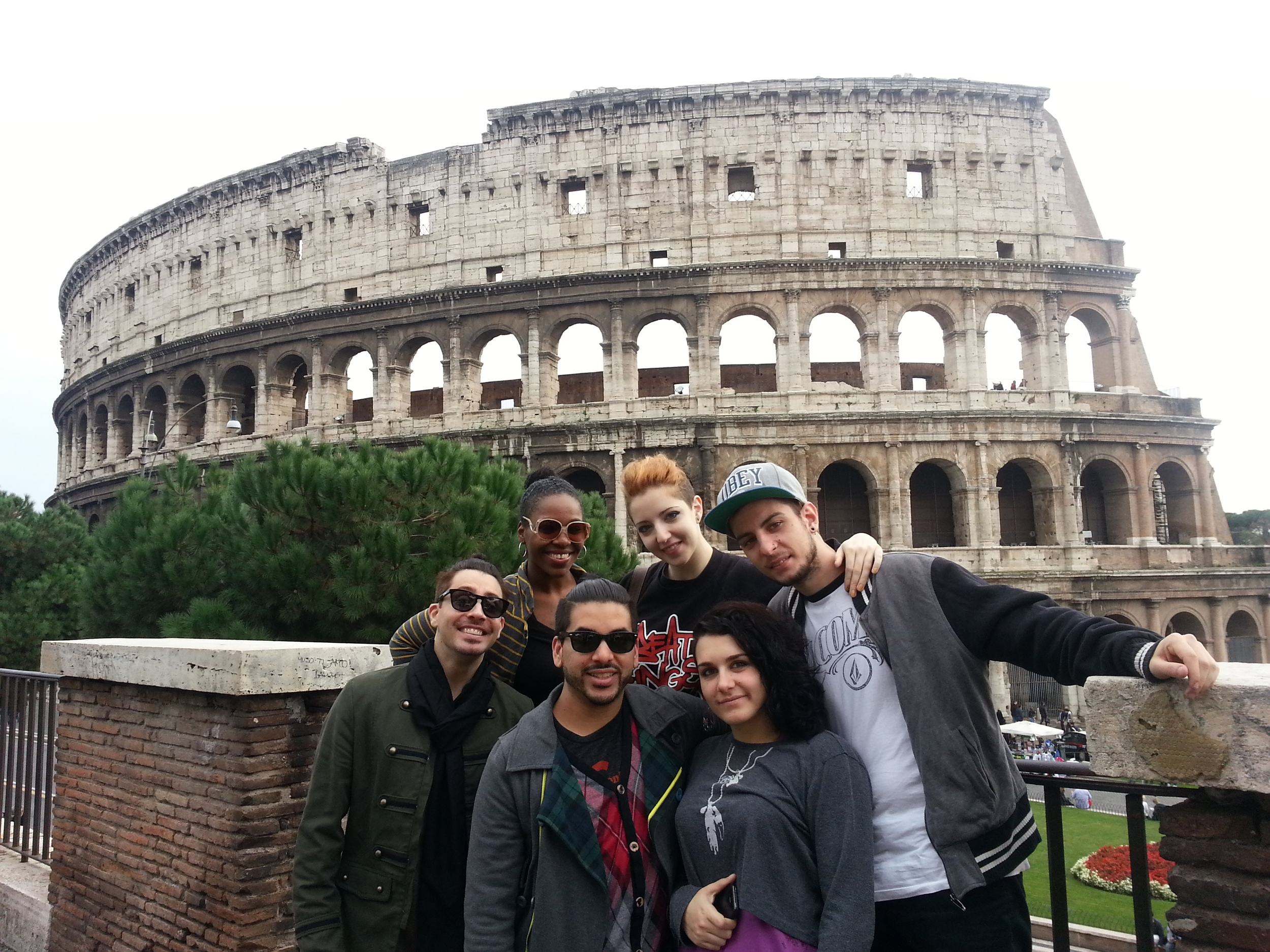 enjoying a day off in Rome!