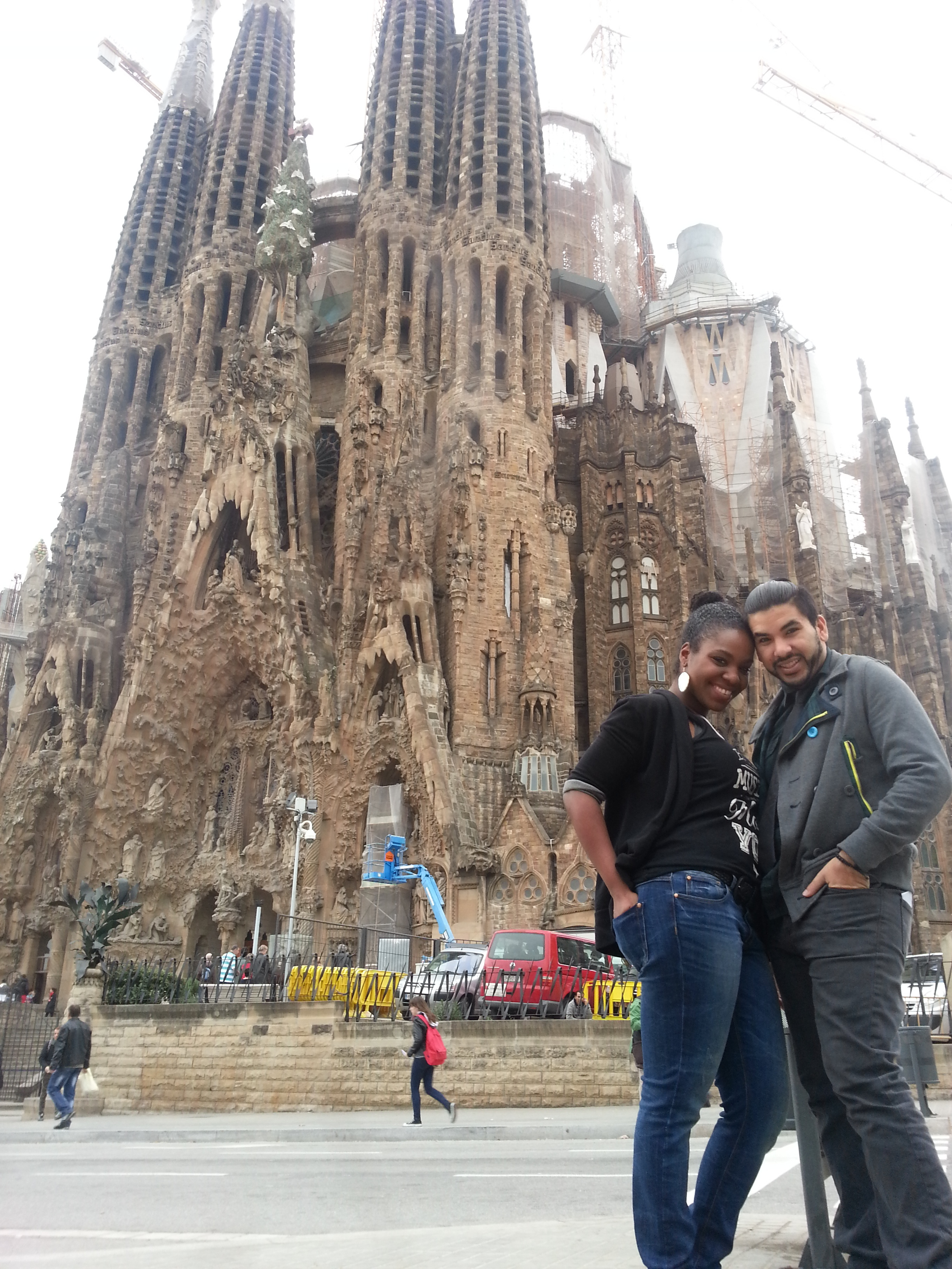 being tourists! :)