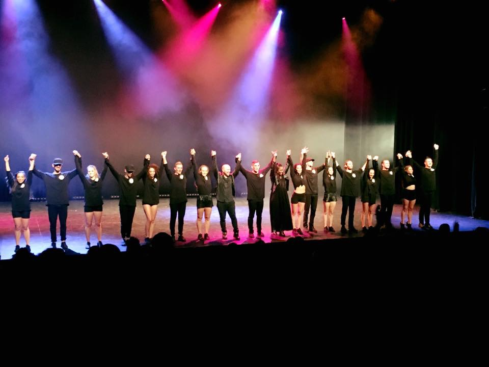 """last bows for """"The Secret Society"""". This was a full show I choreographed in Sydney Australia."""