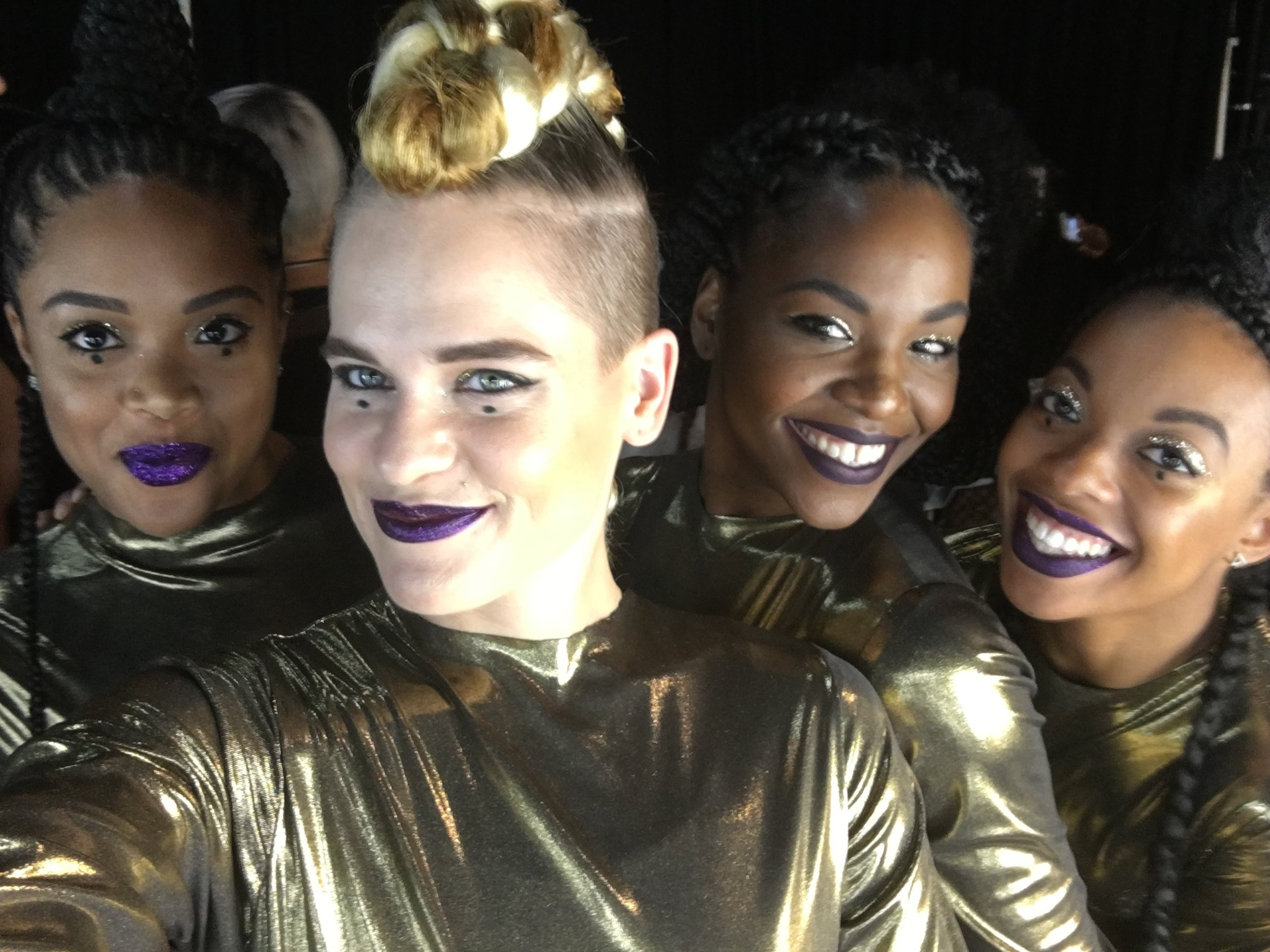 Performing with these beautiful ladies at Madison Square Garden!