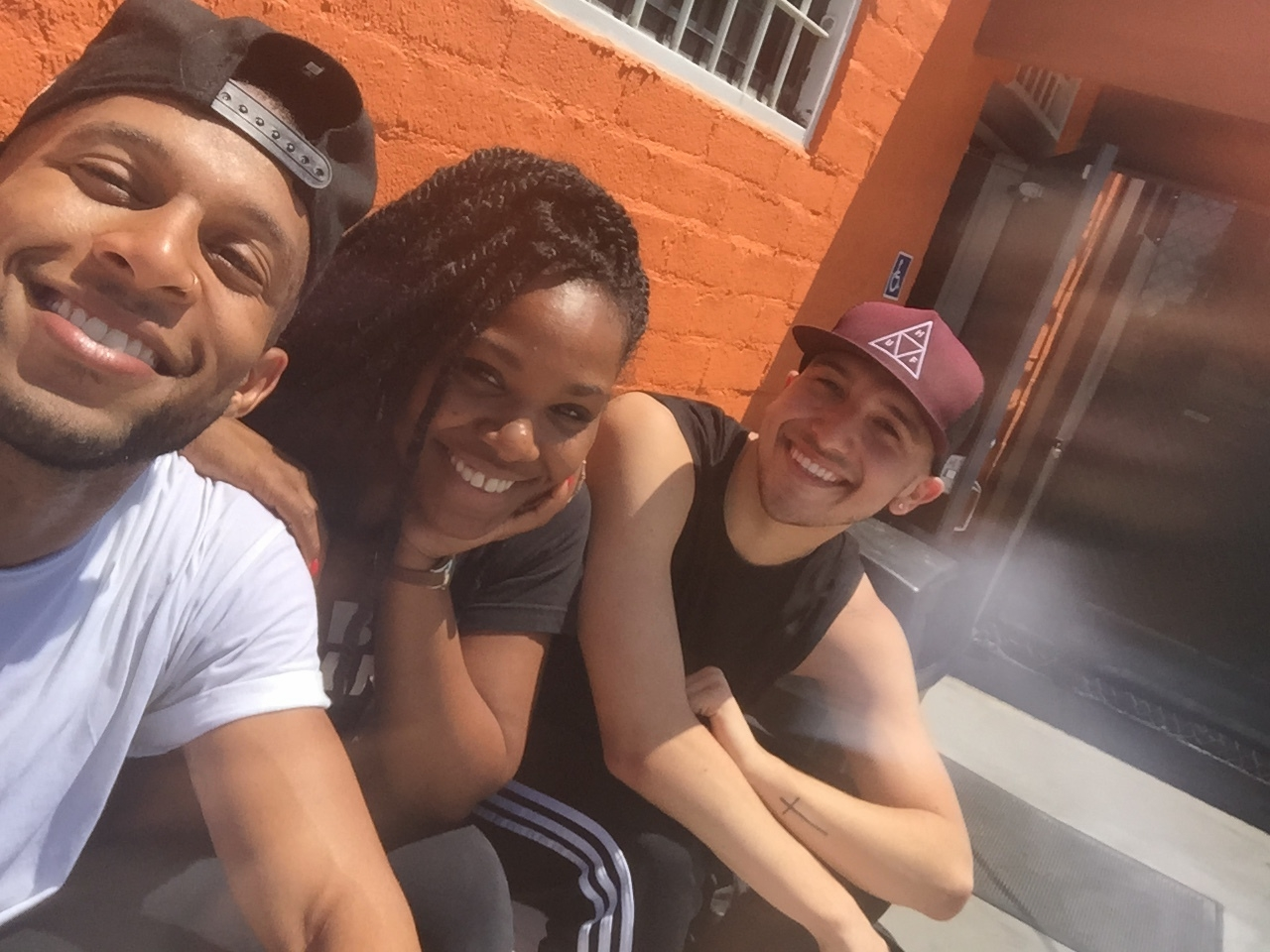 Rehearsal with two of my favorite dancers, Denzel and Guero.