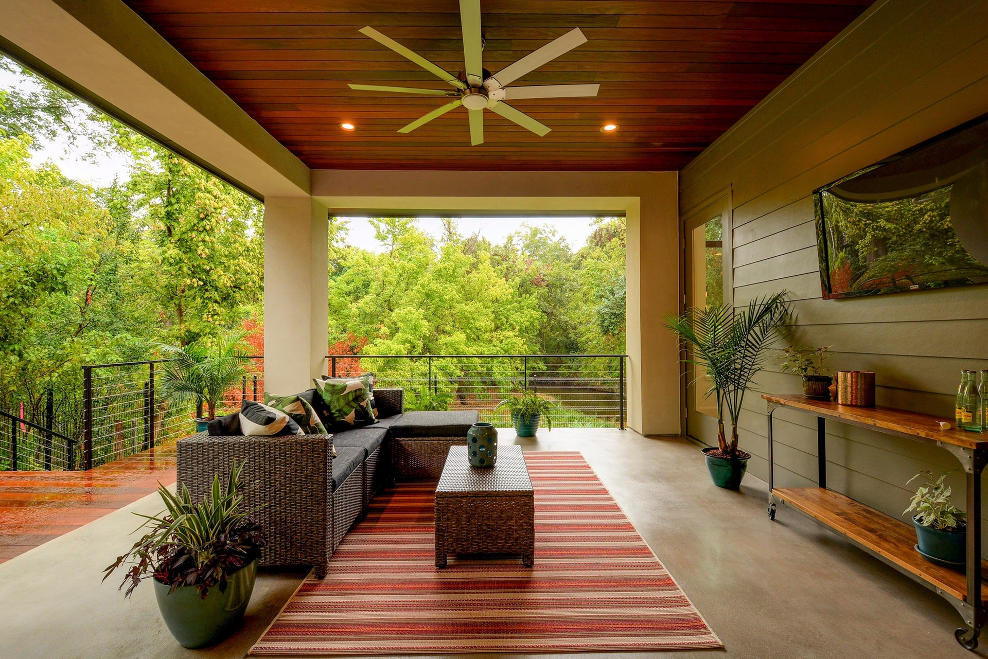 Another view of this modern, inviting living area ready for entertaining!