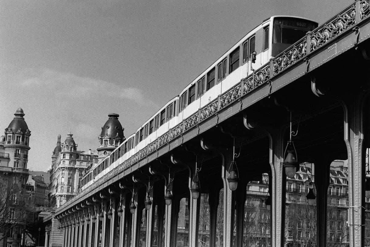 Pont de Bir-Hakeim | Paris in Black and White | Bill McClave