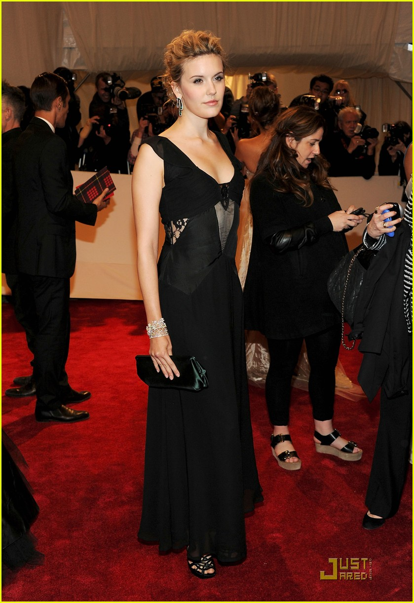 Maggie Grace in Topshop at the MET Ball 2011