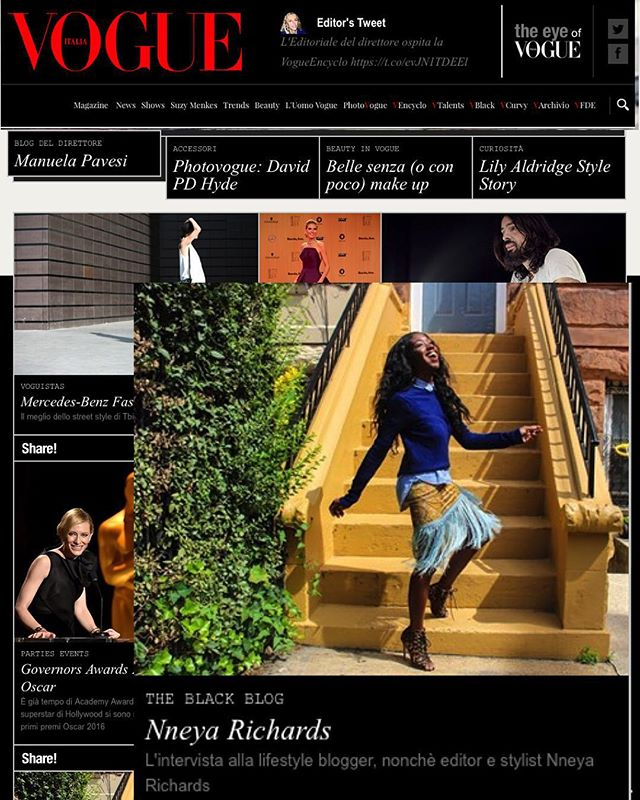 And then I was on @vogueitalia's #homepage between Cate & Naomi and I died happy. #bucketlist #dreams. 😘😘😘 #Grazie mille @itslittleariel! #vogueitalia #italianvogue