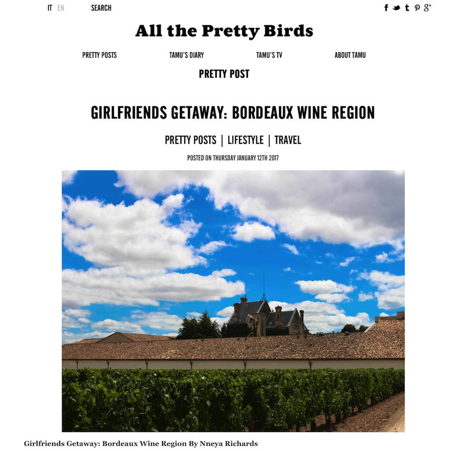 All the Pretty Birds January 2017
