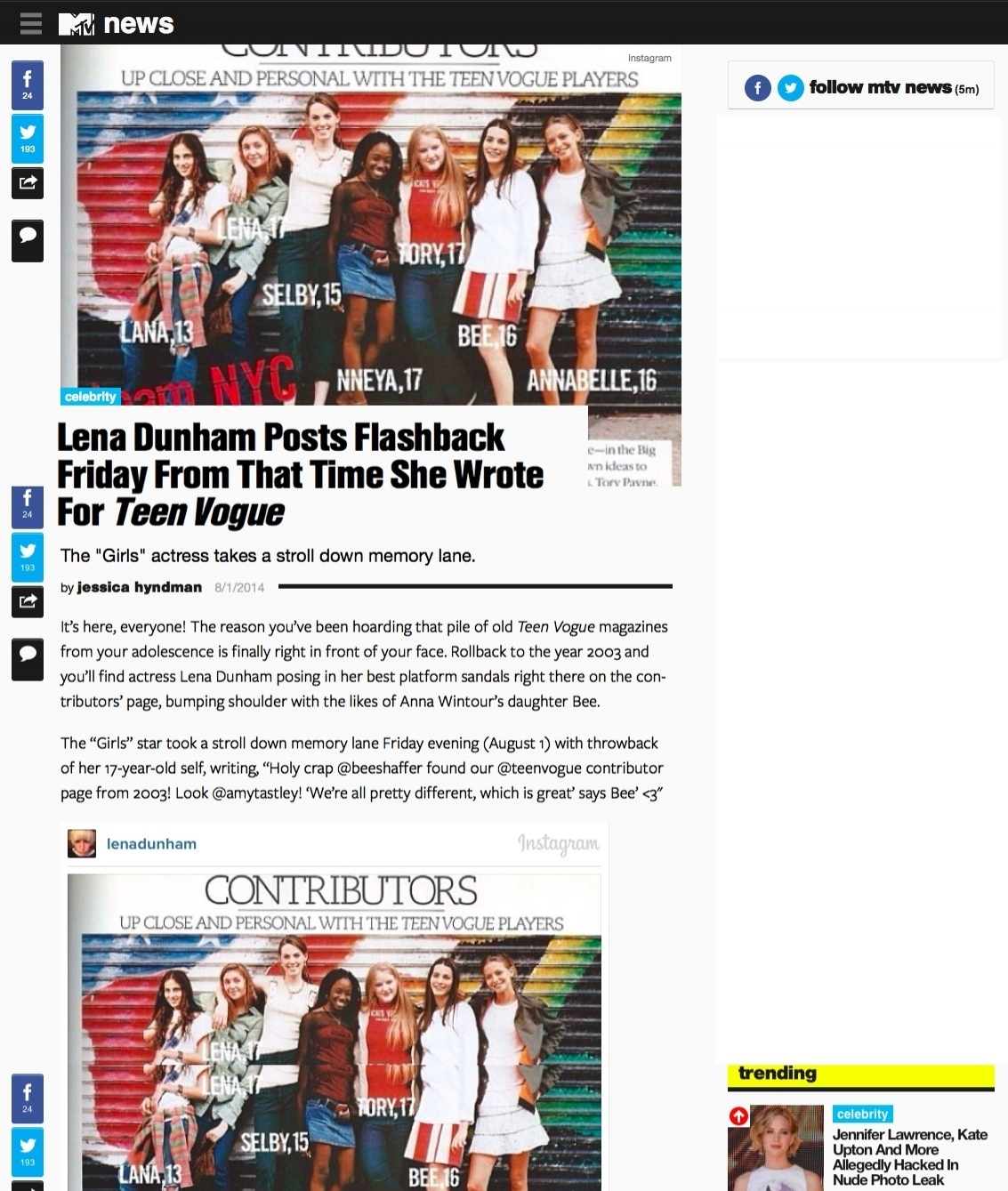 MTV.com August 2014