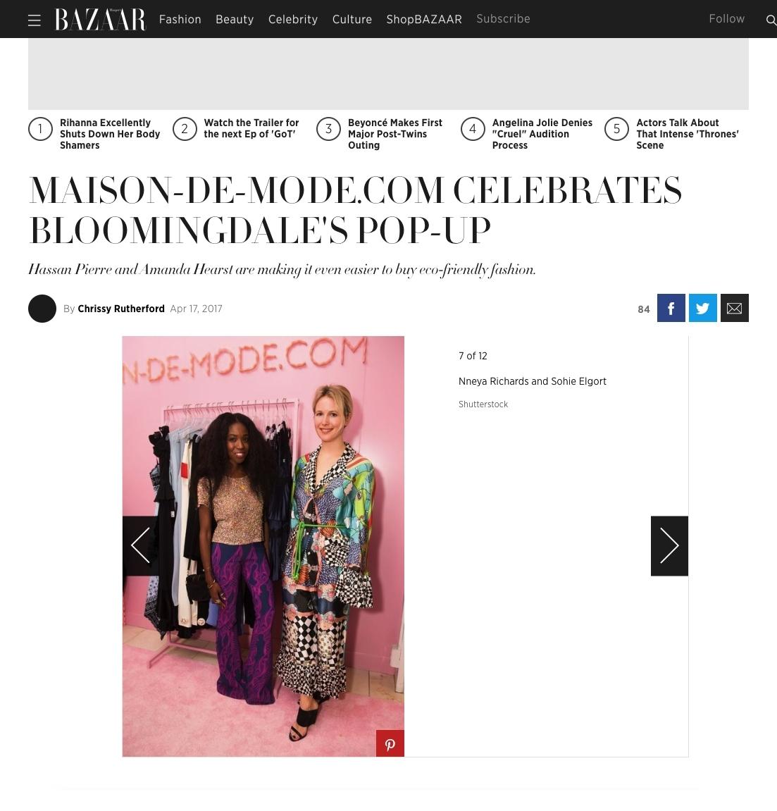 Harper's Bazaar online April 2017