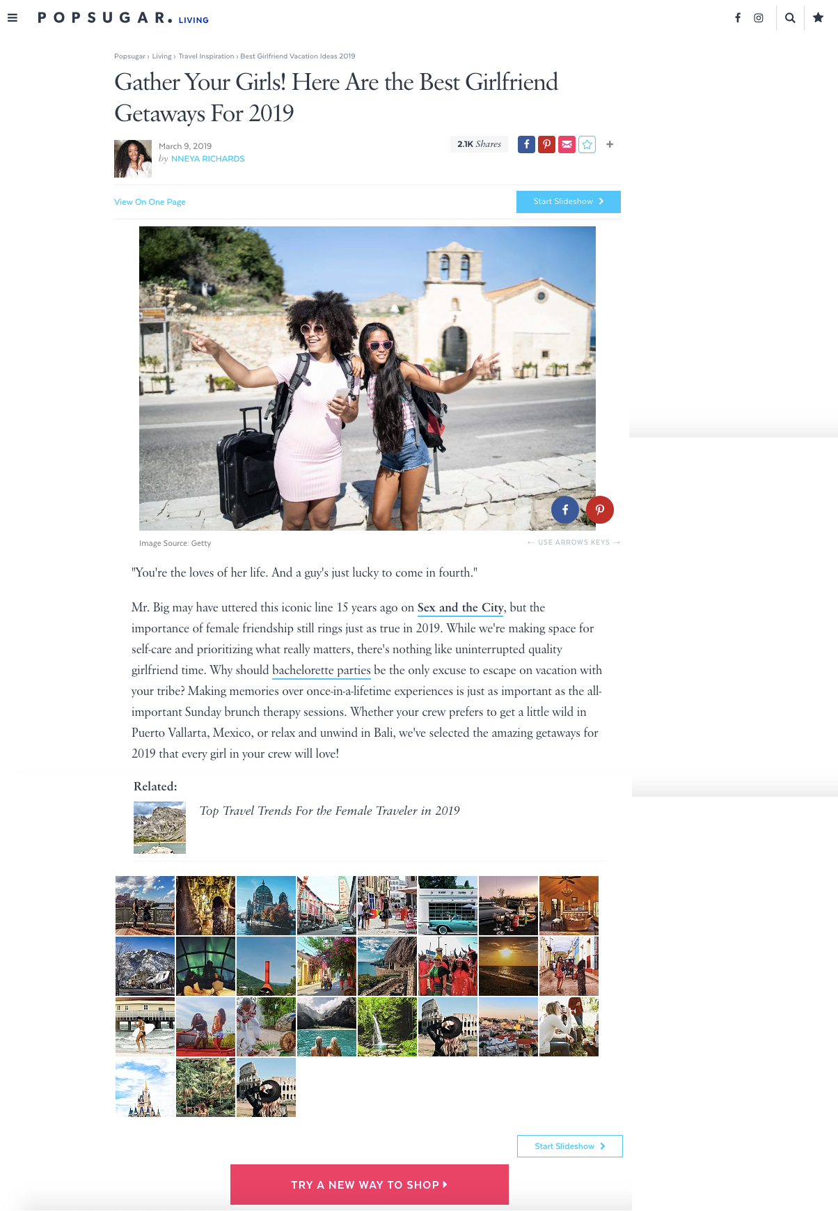 Popsugar.com March 2019
