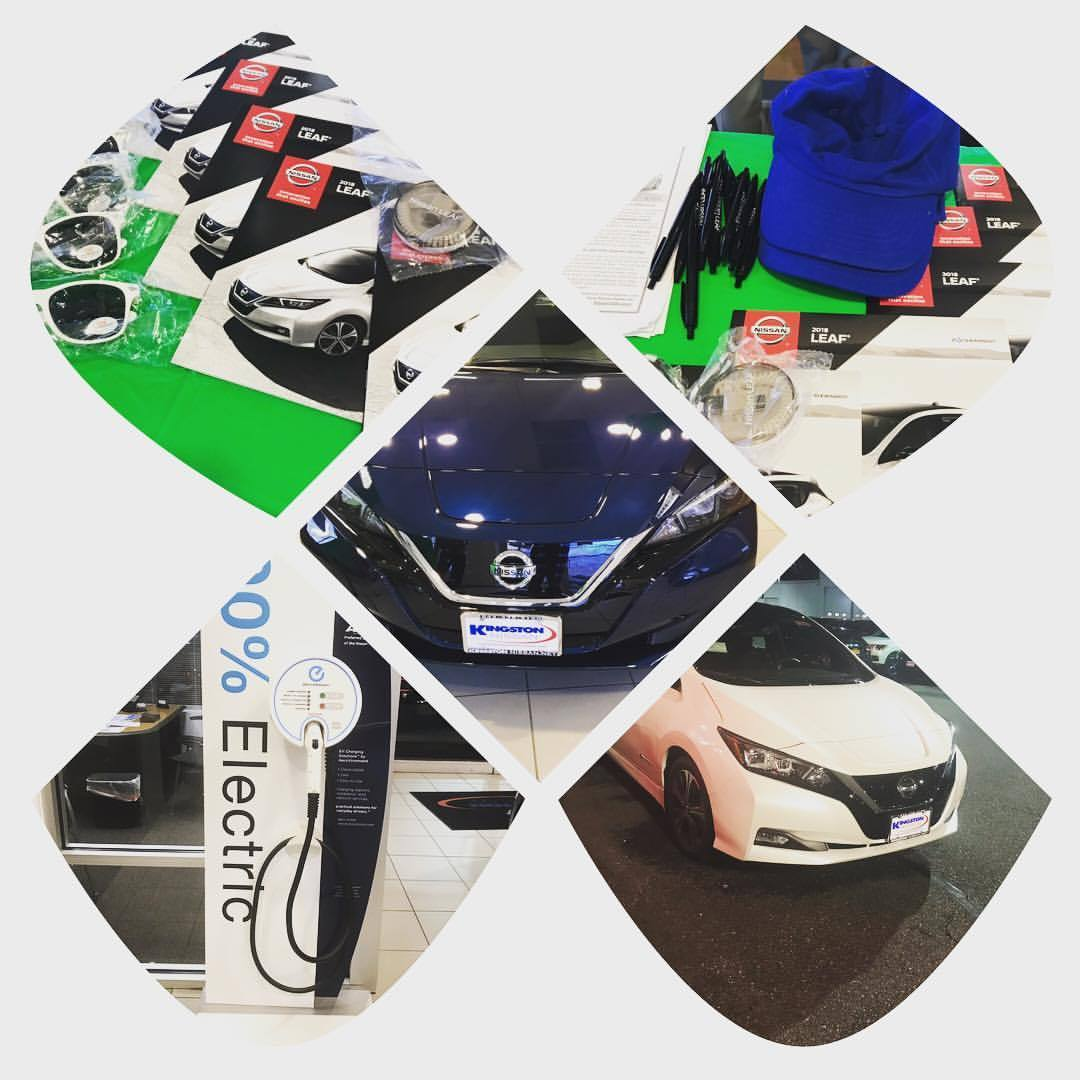 Come check out the 2018 Nissan Leaf all electric car. No emissions, no fluids except washer! Deep discounts.  (at Kingston Nissan)   https://www.instagram.com/p/BqvZxn4HOj2/?utm_source=ig_tumblr_share&igshid=6pdc5nrb47f0
